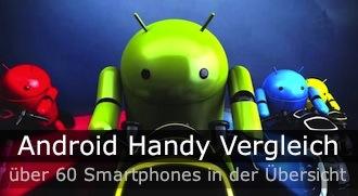 Zum Android Handy Vergleich